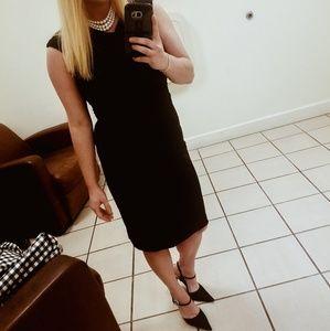 David Meister 4 Black Cocktail Dress